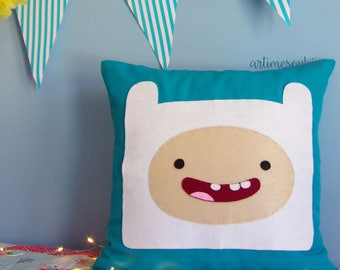 Pillow Finn from Adventure Time with Beemo and Princess Bubblegum