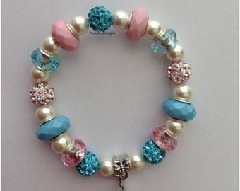 Cotton Candy Magnetic Hematite Bracelet
