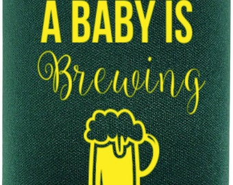 Custom Baby Shower Can Cooler || A Baby Is Brewing