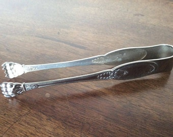 Sugar tongs or French vintage metal ice