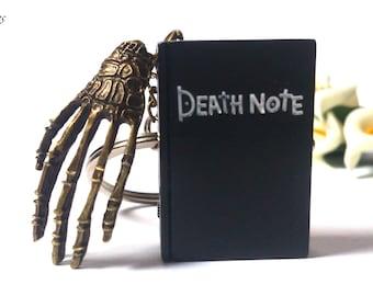 Death Note Keychain - Death Note Pocket Watch - Anime Keychain - Shinigami Keychain - Skeleton Hand - Skull - Movie Keychain