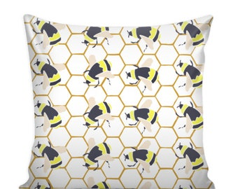 Bumble Bee Pillow Cover 16 X 16
