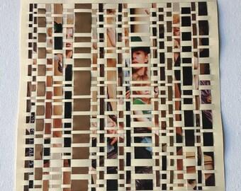 David Bowie Gold Paper Weaving