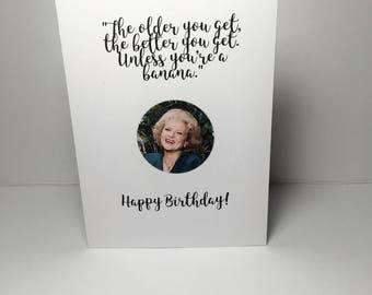 Birthday Card Cheeky Golden Girls - Rose