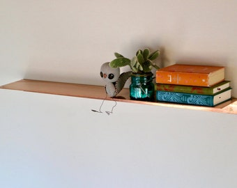 Phoenix Shelf - Floating Copper Shelf