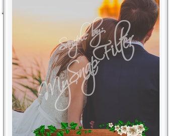 Wedding Snapchat Geofilter | Wedding Snapchat Filter | Wedding Snap Chat Filter | Wedding Geofilter | Fall Wedding Geofilter | Engagement