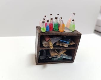 Miniature Laboratory Shelf RPG DnD Pathfinder Dungeons and Dragons
