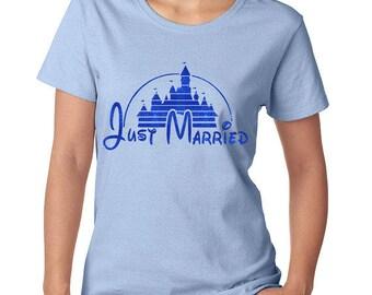 Just Married -Disney Wedding Gift - Disney Marriage - Disney Wedding - Wedding Shirt - Disney Women's Shirt - Disney T Shirt