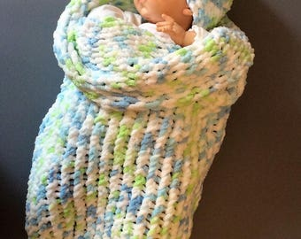 Newborn Baby Cocoon and Hat  Great for Baby showers, Swaddling, and Photo Props