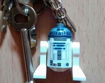 Handmade LEGO STAR WARS mini figure Key rings: R2D2 or BB8      A seen is Star Wars The Force Awakens