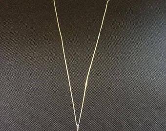 Snake skin set in Sterling silver necklace