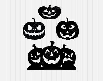 Jack o lantern Svg, Halloween Svg, svg, dxf, eps, png, Pdf - Download - Cut File, Clipart - Cricut Explorer - Silhouette Cameo