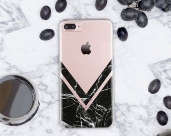 Geometry iPhone 7 Plus Case Clear iPhone SE Case Black iPhone Case Clear iPhone 6s Case Marble iPhone 7 Case Clear iPhone 6  Phone cn1007