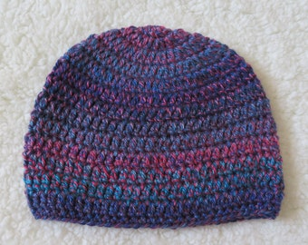 Simple crochet beanie