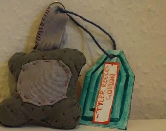 Khaki Fabric Keyring