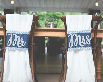 Mr and Mrs Reception Chair Cover