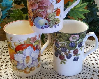 3 Fine Rose China tea/coffee cups by Kaykraft