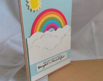 Stampin' Up! A6 Rainbow Birthday Card