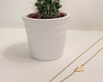 Gold plated necklace with a small Dove pendant