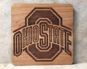 Ohio State College Football Coaster Buckeyes Square