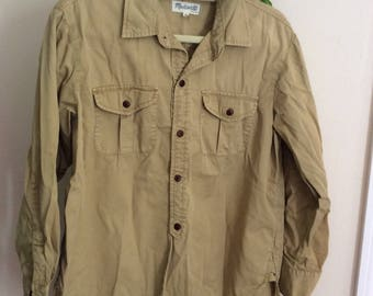 Madewell tan button down