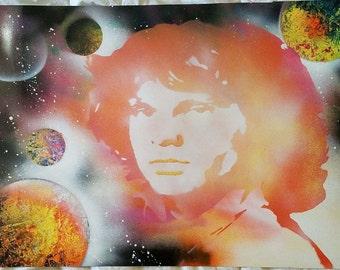 Jim Morrison Spray Painting
