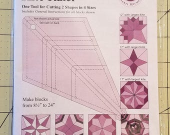 Perfect Patchwork Multi-Size Kite Ruler from Marti Michell, FREE SHIPPING