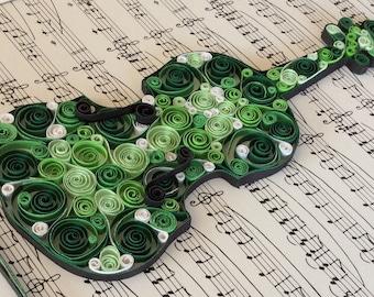 Violin Gorgeous Green - Original art piece