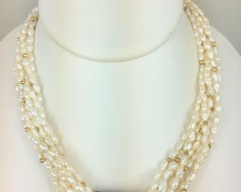 pearl cloisonne ring 14k beads hand made necklace