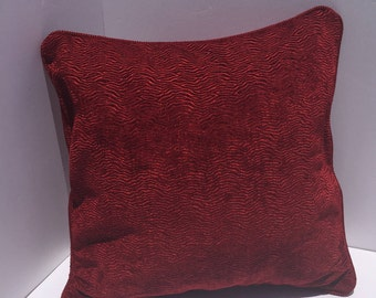 Red raised zigzag Print Pillow Cover 18x18