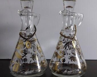 Signed Georges Briard Mid Century Oil & Vinegar Cruets