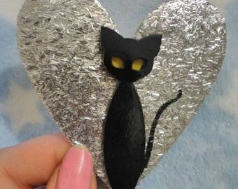 Lucky- The black cat brooch!