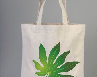 Leaf, Green Leaf Tote Bag, Tropical Palm Leaf, Jungle Leaves, Green Leaves Tote, Shopping Bag, Everyday Bag, Natural Tote, Botanical Bag
