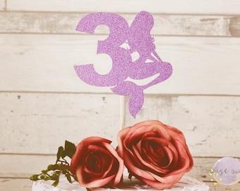 BIRTHDAY CAKE TOPPER - 3 Cake Topper, 3rd Birthday, Mermaid Cake Topper, Birthday Cake Topper, Mermaid Birthday, Birthday cake topper