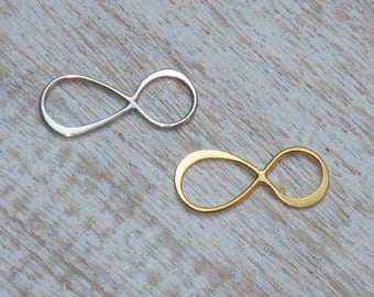 Sterling Silver or Gold Vermeil Infinity Link Connector, Figure Eight Connector, Karma Link, Karma Connector