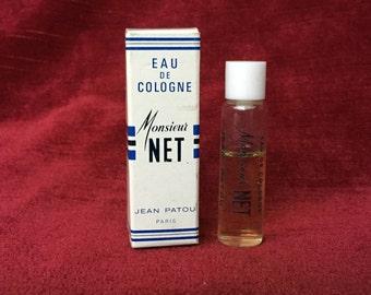 ancien échantillon flacon tube miniature publicitaire Mr Net de Jean Patou_ vecchio pubblicitario bottiglia tubo pubblicitario in miniatura