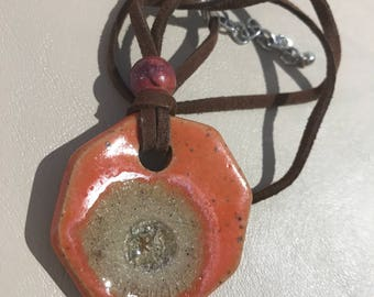 Ceramic and Glass Pendant