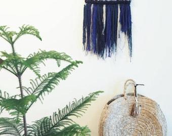 Berth Hanging Wall Weave, Blue, Natural