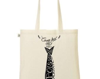 fish tie / vegan and crultyfree tote bag