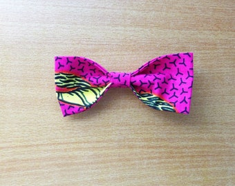 Bow number 4 for hair or neck blouse made of wax (Ankara)
