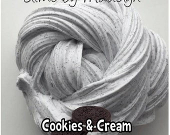 Cookies and Cream Fluffy Scented Slime ~ Cookies and Cream slime