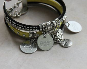 "Bracelet personalized with names ""Basic"" banana"