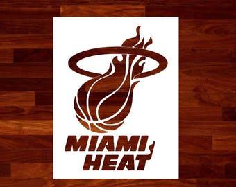 Miami Heat Stencil