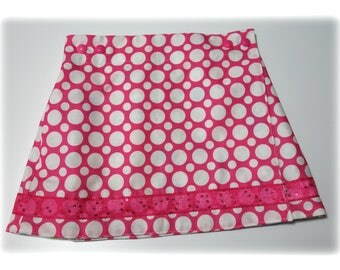 Skirt wallet REVERSIBLE cotton - 4/5 years