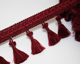 Burgundy 53 mm, 1 meter Ribbon tassel fringe tassel trim
