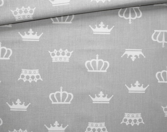 Fabric wreaths, 100% cotton, 50 x 160 cm crowns white on gray background