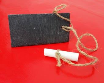 natural slate mini brand square 8cm