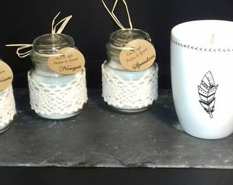 Coffee delicious feather (4 candles coffee Speculoos, Nougat and chocolate/hazelnut)