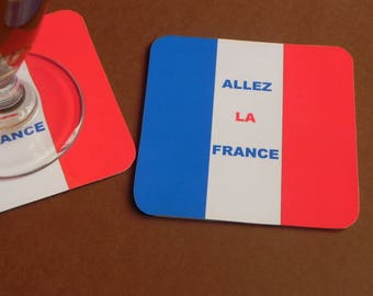 Soccer Football Supporter go the France coaster coaster