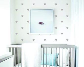 Heart Shaped Wall Decal, Nursery, Scandinavian, Nordic, Minimalist, Modern Wall Decor